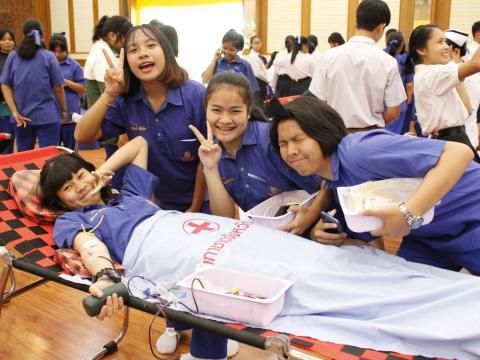 ร่วมบริจาคโลหิต อวัยวะเเละดวงตา ณ หอประชุมไทรทอง 20 มิถุนายน 256